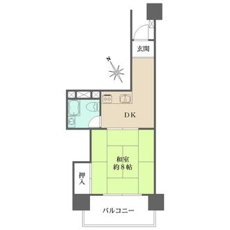 三田高島平第一コーポの間取図
