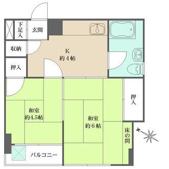 亀有中川マンションの間取図