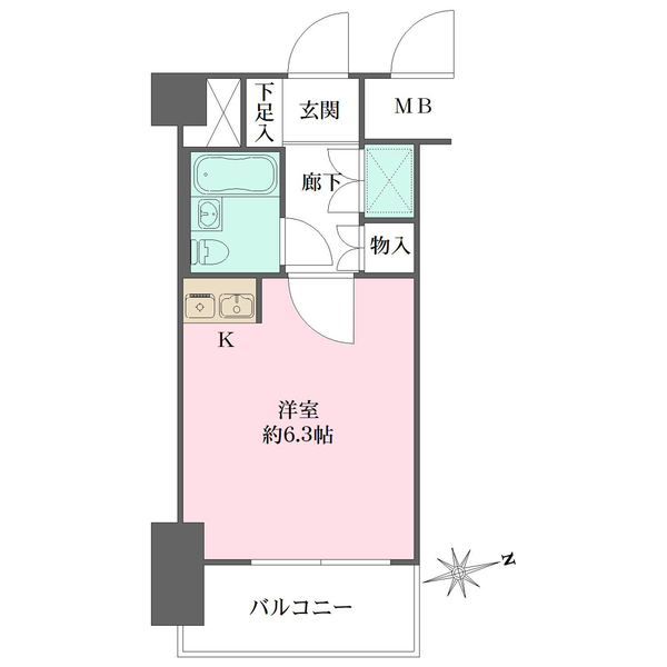 シティコープ上野広徳の間取図