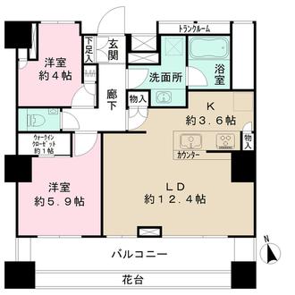 ザ・パークハウス上野の間取図