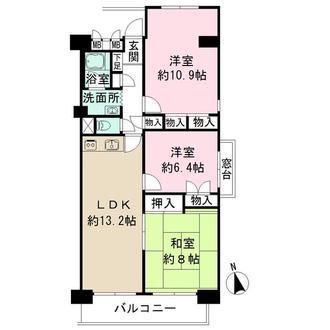 新松戸西パークハウスの間取図