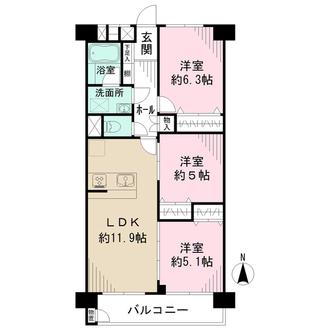 新松戸南パークハウスの間取図