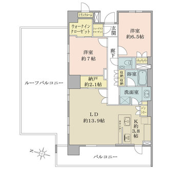 ザ・パークハウス文京白山の間取図