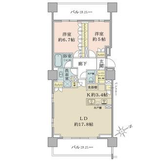 ザ・パークハウス浅草橋タワーレジデンスの間取図