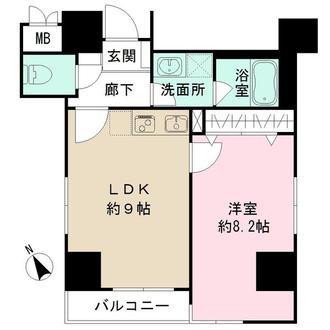 グランフォース上野入谷の間取図