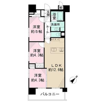 コアマンションフリージオ上野の間取図