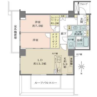ザ・パークハウス湯島龍岡町の間取図
