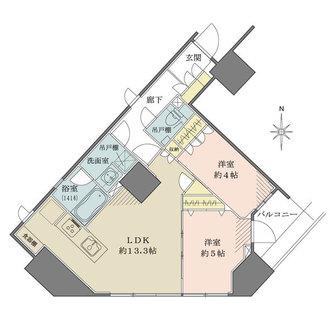 オープンレジデンシア千代田東神田の間取図