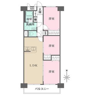 新松戸中央パークハウスB棟の間取図