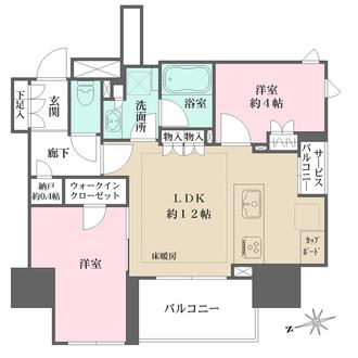 Brillia上野 The Residenceの間取図