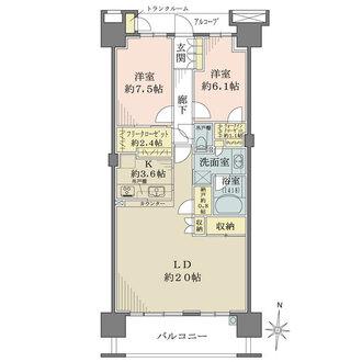 東京フロンティアシティ パーク&パークスの間取図
