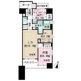パークハウス新宿若松町の間取図
