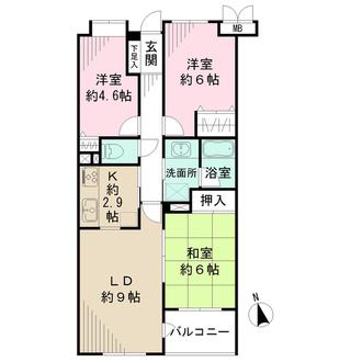井草パークハウスの間取図