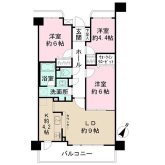 プランヴェール東神奈川の間取図