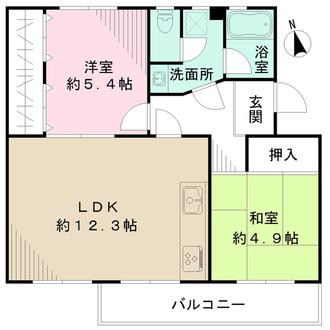 寺尾台住宅の間取図