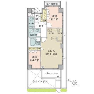 パークハウス高田馬場公園アーバンスの間取図