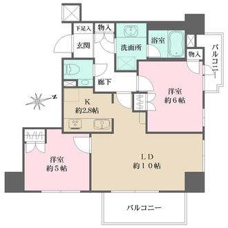 ファミール新宿グランスィートタワーの間取図