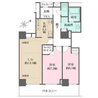 ローレルコート新宿タワーの間取図