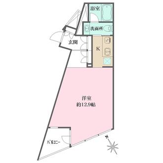 プラウドジェム渋谷神南の間取図