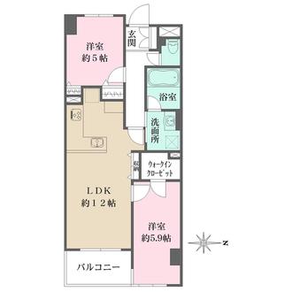 メゾンエクレーレ新宿西戸山の間取図