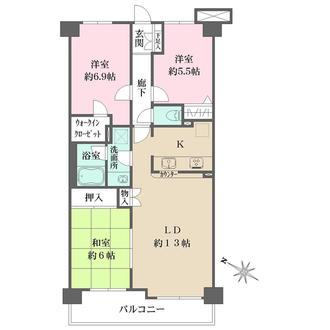 ガーデンホーム幡ヶ谷の間取図