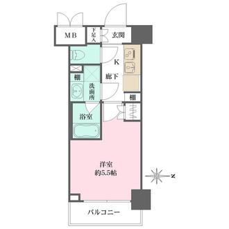ハーモニーレジデンス武蔵小杉#002の間取図