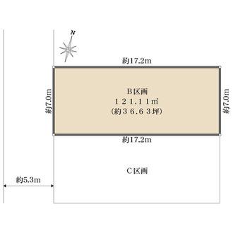 B区画の間取図