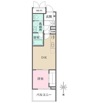 デュオ・スカーラ新宿の間取図
