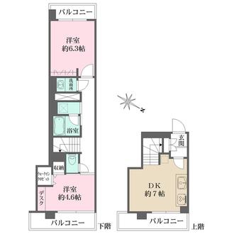 渋谷本町マンションの間取図