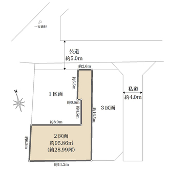 2区画の間取図