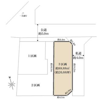 3区画の間取図