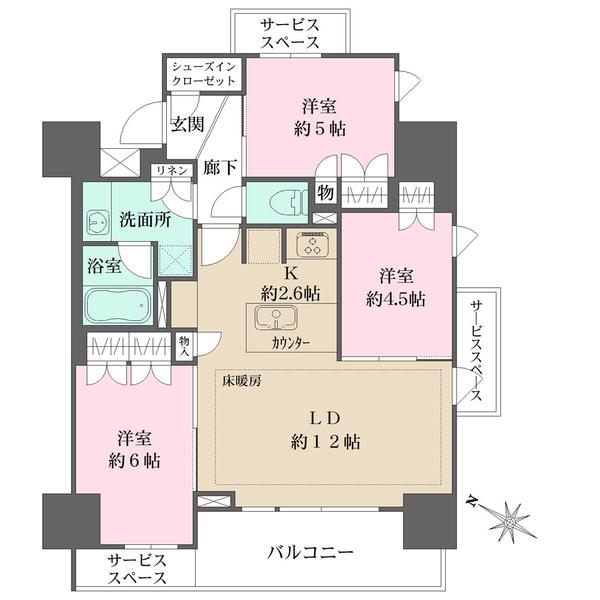 ザ・パークハウス町田中町の間取図