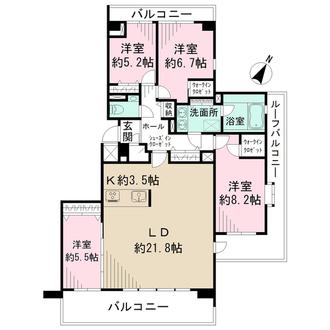 新百合ヶ丘パークハウス3番街の間取図