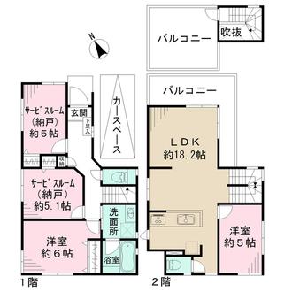 新築分譲住宅 ーPLAN:Eーの間取図