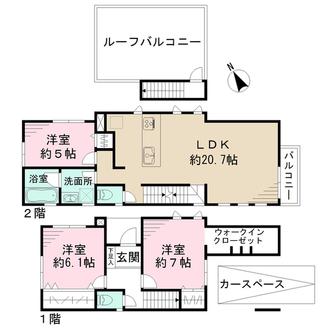 新築分譲住宅 ーPLAN:Fーの間取図