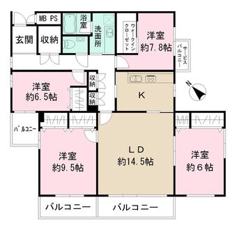 世田谷ハウスの間取図