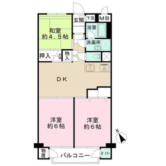 狛江ハイタウンの間取図