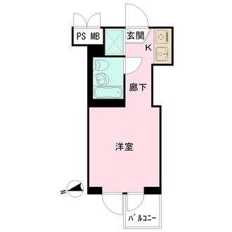 扶桑ハイツ経堂の間取図