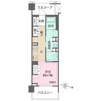 ザ・パークハウス千歳烏山グローリオの間取図