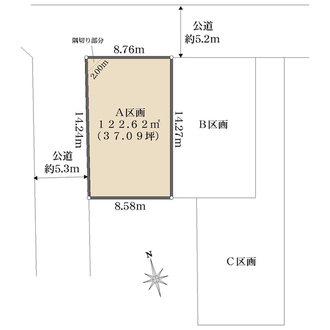 A区画の間取図