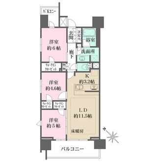 ザ・パークハウス町田テラスの間取図