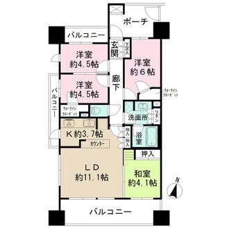 大山パークハウス スタイリッシュタワーの間取図