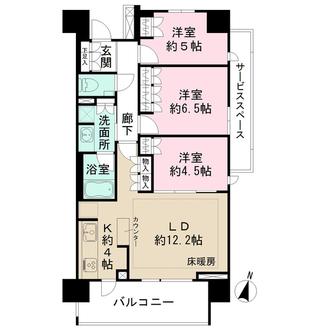 ザ・パークハウス大宮氷川参道の間取図