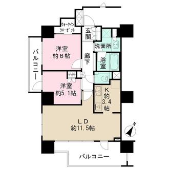 パークハウス駒込六義園の間取図