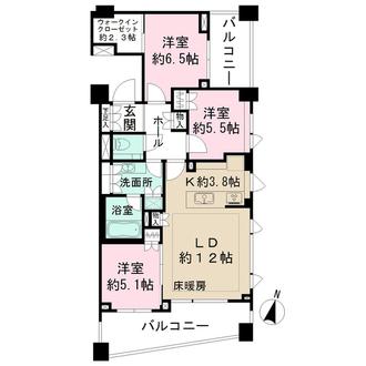 パークハウス護国寺の間取図