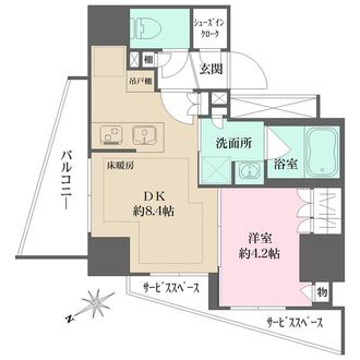 ザ・パークハウスアーバンス文京小石川の間取図