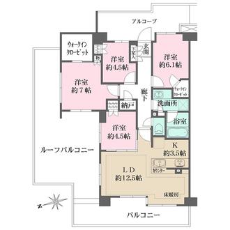 ザ・パークハウス花小金井ガーデン Ⅱ街区の間取図