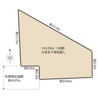 練馬区中村南二丁目土地の間取図