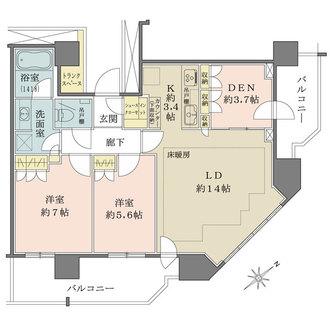 ザ・タワーレジデンス大塚の間取図