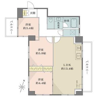 巣鴨第2SYマンションの間取図